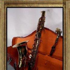 Instrumentos musicales: SAXO SAXOFÓN BESSONS & CO FABRICADO EN LONDON CON ESTUCHE. Lote 108360643