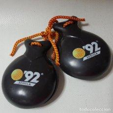 Instrumentos musicales: CASTAÑUELAS ORIGINALES EXPO 92 SEVILLA. Lote 108416695