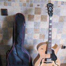Instrumentos musicales: GUITARRA WASHBURN J3 NK, CUERPO AHUECADO. Lote 109339779