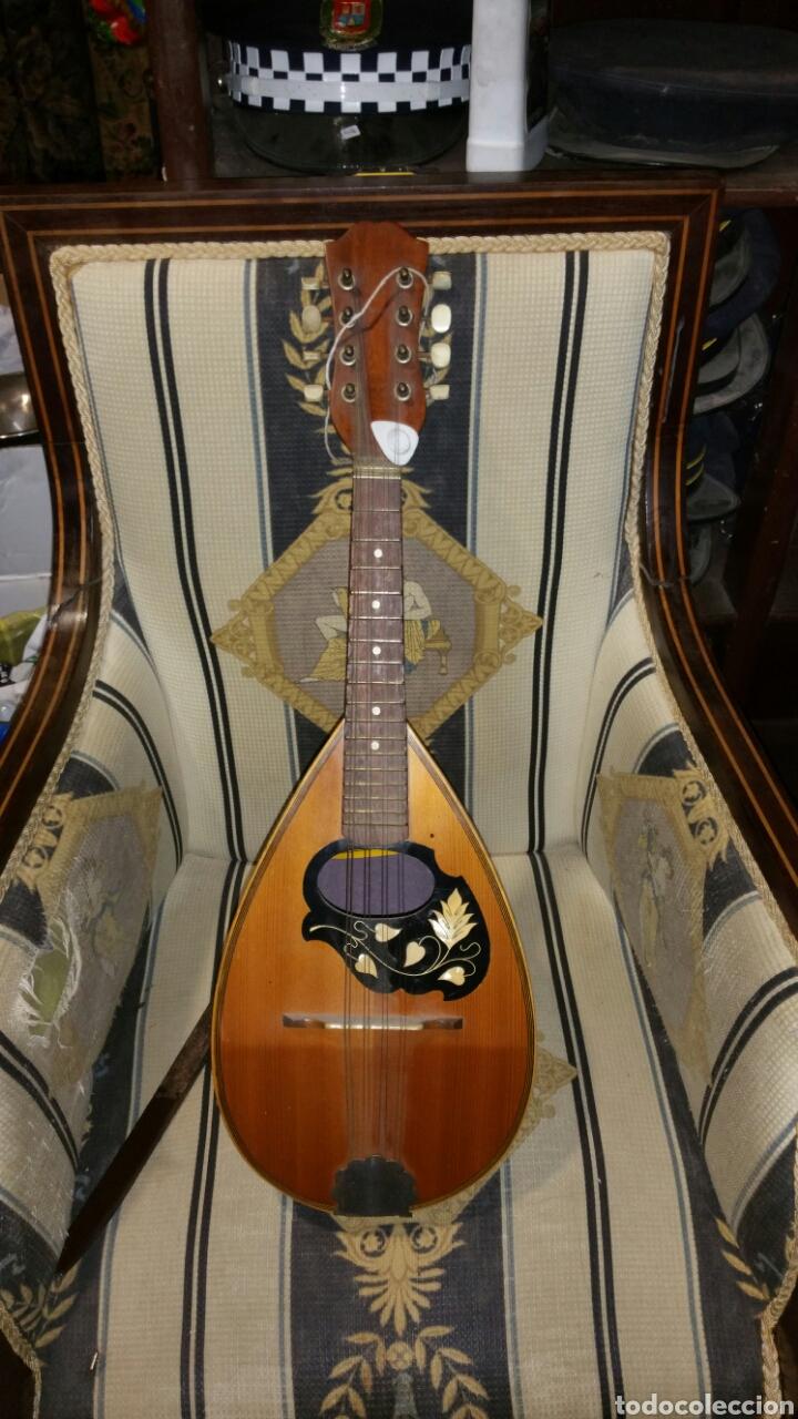 MANDOLINA DE GRAN CALIDAD DE MADERAS Y MARQUETERÍA (Música - Instrumentos Musicales - Cuerda Antiguos)