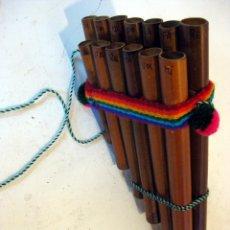 Instrumentos musicales: ZAMPOÑA INCA PERUANA , FLAUTA DE PAN. Lote 110652663