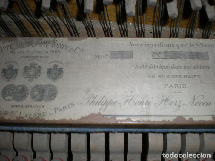 Instrumentos musicales: PIANO ANTIGUO DE PARED S. XIX - Foto 3 - 112155427
