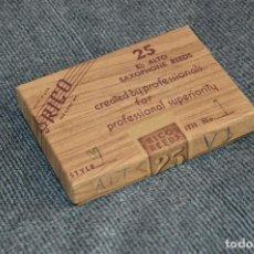 Instrumentos musicales: PRECINTADO - NUEVO - NOS - 25 CAÑAS DE SAXOFÓN - ALTO V1 - EB ALTO SAXOPHONE REEDS - RICO USA. Lote 112324255