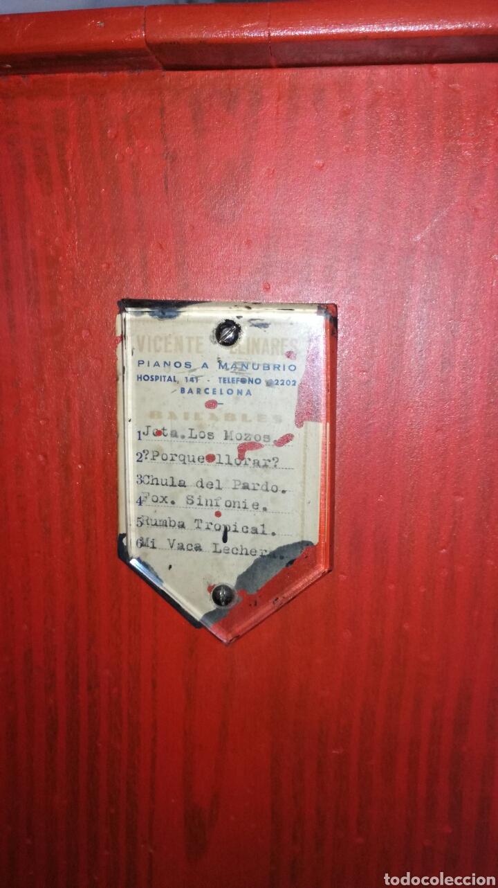Instrumentos musicales: Organillo de musica español ,firmado por vicente linares JYC/ - Foto 3 - 112680270