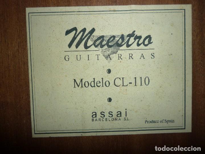 Instrumentos musicales: Guitarra clásica antigua Maestro Assai modelo CL 110 - Foto 6 - 112700699