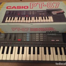 Instrumentos musicales: CASIO PT-87 + ROM PACK RO-551 WORLD SONGS + CAJA (FUNCIONA) PIANO. Lote 112826119