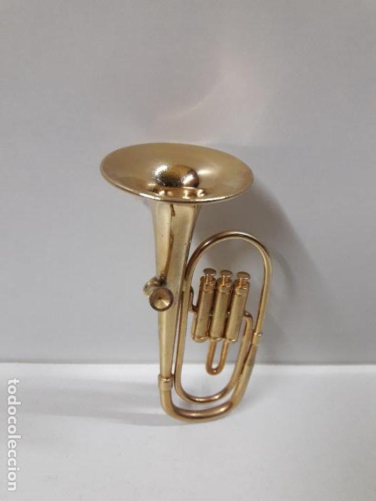 Instrumentos musicales: TUBA - MINIATURA . ALTURA 9,5 CM - Foto 2 - 113349231