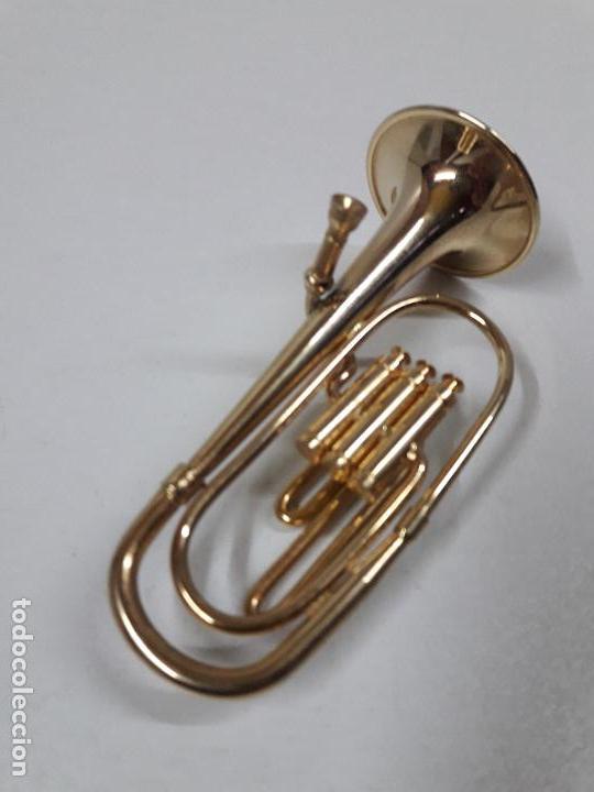 Instrumentos musicales: TUBA - MINIATURA . ALTURA 9,5 CM - Foto 3 - 113349231
