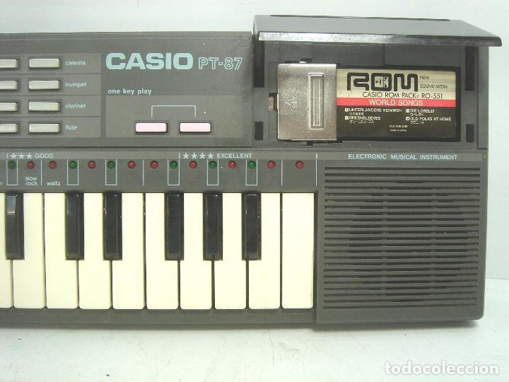 ORGANO TECLADO PIANO ELECTRONICO -CASIO PT-87 +ROM PACK RO-551- JAPAN 80S - PT87 (Música - Instrumentos Musicales - Teclados Eléctricos y Digitales)