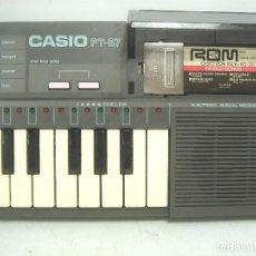 Instrumentos musicales: ORGANO TECLADO PIANO ELECTRONICO -CASIO PT-87 +ROM PACK RO-551- JAPAN 80S - PT87. Lote 113897439