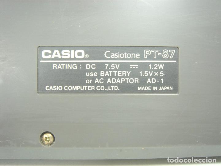 Instrumentos musicales: ORGANO TECLADO PIANO ELECTRONICO -CASIO PT-87 +ROM PACK RO-551- JAPAN 80s - PT87 - Foto 8 - 113897439