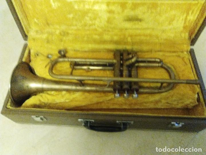 Instrumentos musicales: ANTIGUA TROMPETA CON SU MALETÍN - Foto 5 - 114188143