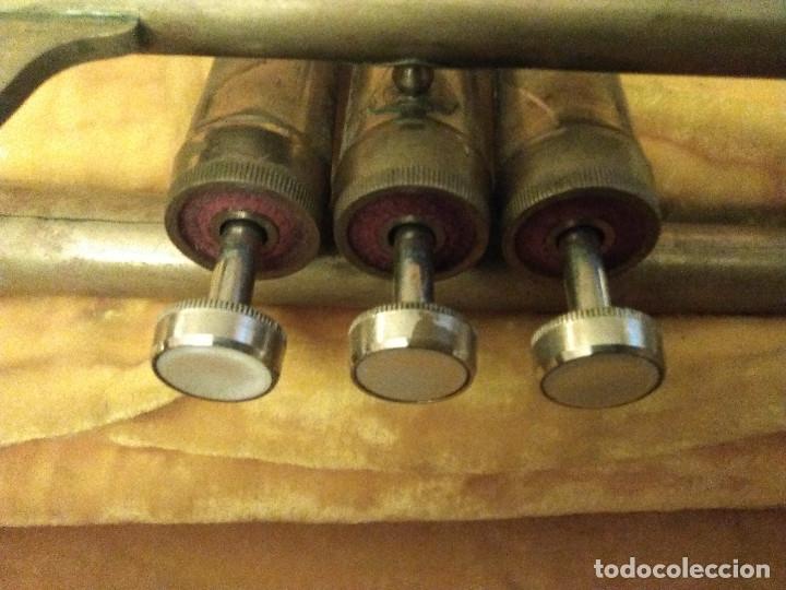 Instrumentos musicales: ANTIGUA TROMPETA CON SU MALETÍN - Foto 7 - 114188143