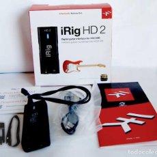 Instrumentos musicales: IRING HD 2 INTERFACE DE GUITARRA BAJO PARA IOS Y USB PARA GRABAR GUITARRA BAJO IPHONE IPAD MAC PC. Lote 114356239