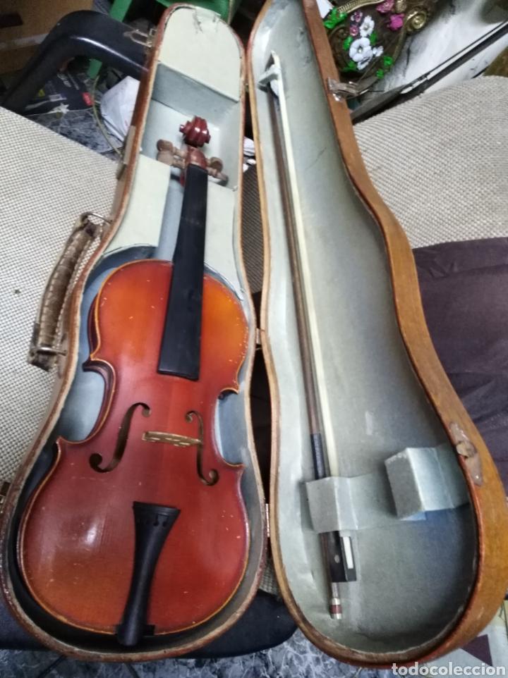VIOLIN ANTIGUO CON SU FUNDA EN BUEN ESTADO (Música - Instrumentos Musicales - Cuerda Antiguos)
