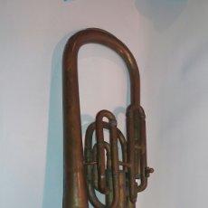Instrumentos musicales: ANTIGUO BOMBARDINO FINALES XIX P.GAUTIER TOLOUSE INSTRUMENTO VIENTO MÚSICA. Lote 115140603