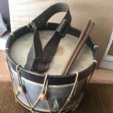 Instrumentos musicales: TAMBOR FRANCÉS CON ARNÉS Y BAQUETAS. ORIGINAL. AÑO: 1808 (GUERRA DE LA INDEPENCIA ESPAÑOLA). Lote 115183091