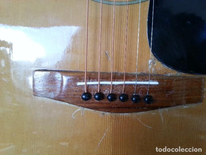 Instrumentos musicales: Guitarra acústica WESTERN BLOOMFIELD BL-208. USA VINTAGE SERIES. SUENA IMPRESIONANTE. - Foto 6 - 115287843
