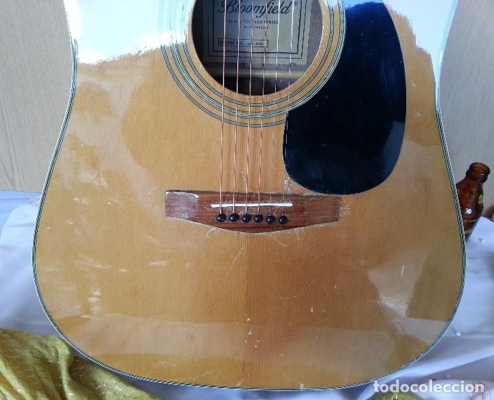 Instrumentos musicales: Guitarra acústica WESTERN BLOOMFIELD BL-208. USA VINTAGE SERIES. SUENA IMPRESIONANTE. - Foto 7 - 115287843