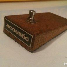 Instrumentos musicales: ANTIGUO PEDAL GUITARRA ELECTRICA ACOUSTIC, MADERA DE ROBLE. Lote 115381047