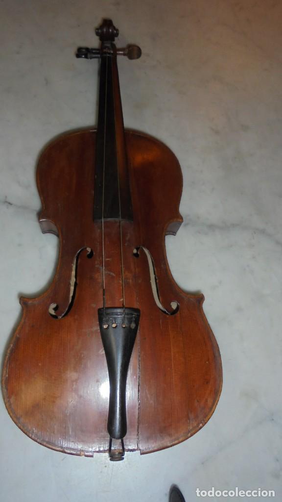 (M) ANTIGUO VIOLIN 61X21 CM. VER FOTOGRAFIAS ESTADO (Música - Instrumentos Musicales - Cuerda Antiguos)