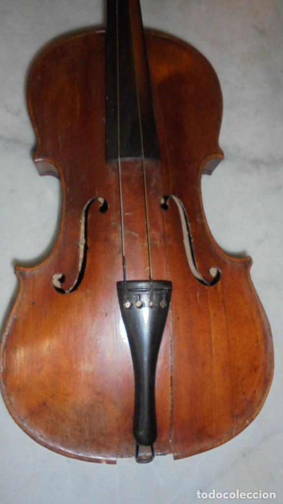 Instrumentos musicales: (M) ANTIGUO VIOLIN 61X21 CM. VER FOTOGRAFIAS ESTADO - Foto 3 - 115594195
