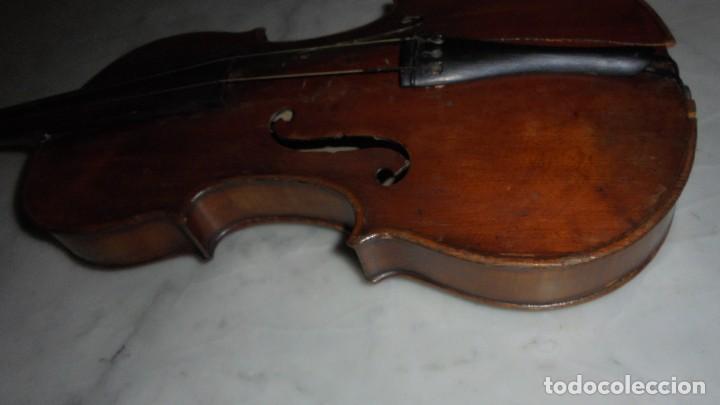 Instrumentos musicales: (M) ANTIGUO VIOLIN 61X21 CM. VER FOTOGRAFIAS ESTADO - Foto 5 - 115594195