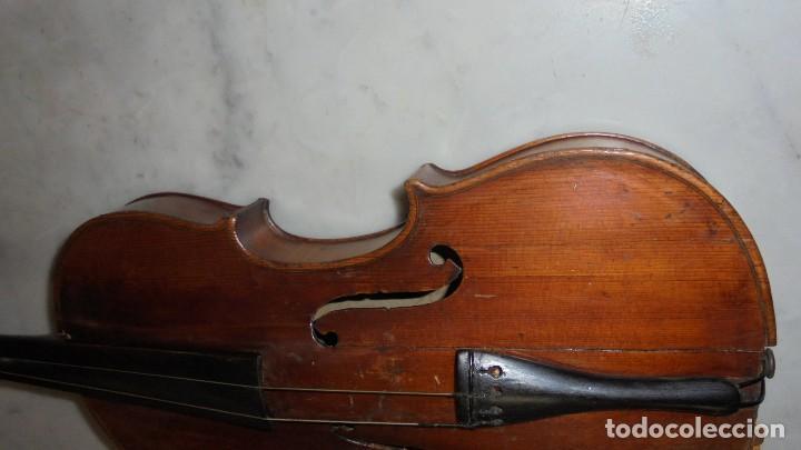 Instrumentos musicales: (M) ANTIGUO VIOLIN 61X21 CM. VER FOTOGRAFIAS ESTADO - Foto 6 - 115594195