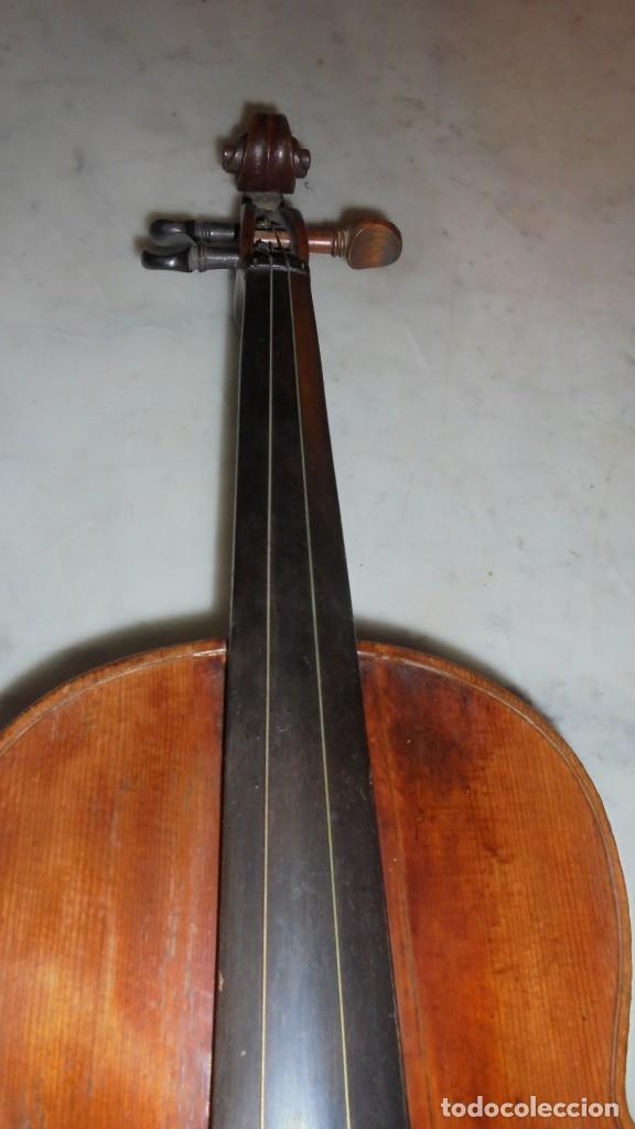 Instrumentos musicales: (M) ANTIGUO VIOLIN 61X21 CM. VER FOTOGRAFIAS ESTADO - Foto 7 - 115594195