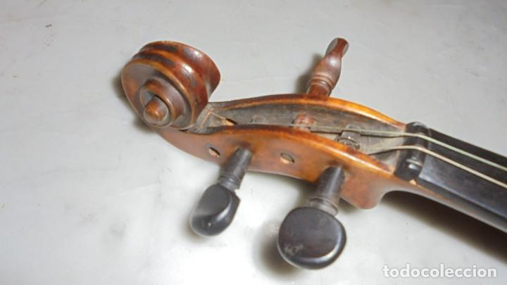 Instrumentos musicales: (M) ANTIGUO VIOLIN 61X21 CM. VER FOTOGRAFIAS ESTADO - Foto 11 - 115594195