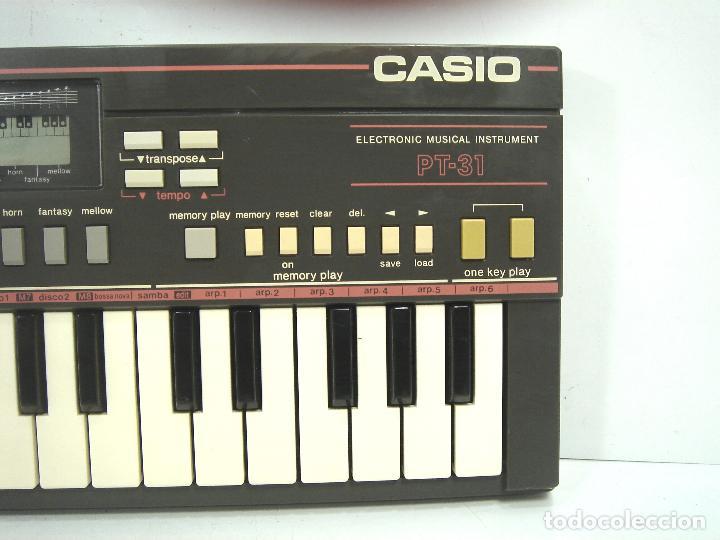 ORGANO TECLADO -CASIO PT-31 SIN MEMORIA - JAPAN 80S - PT31 - PIANO ELECTRONICO (Música - Instrumentos Musicales - Teclados Eléctricos y Digitales)