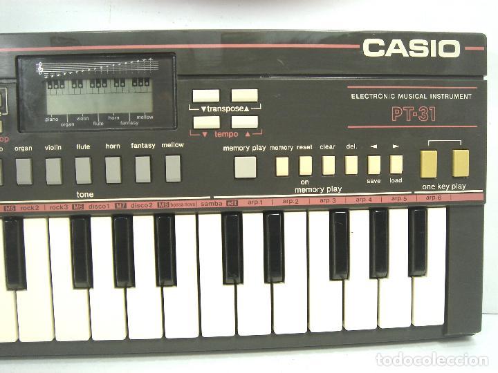 Instrumentos musicales: ORGANO TECLADO -CASIO PT-31 SIN MEMORIA - JAPAN 80S - PT31 - PIANO ELECTRONICO - Foto 2 - 115736531