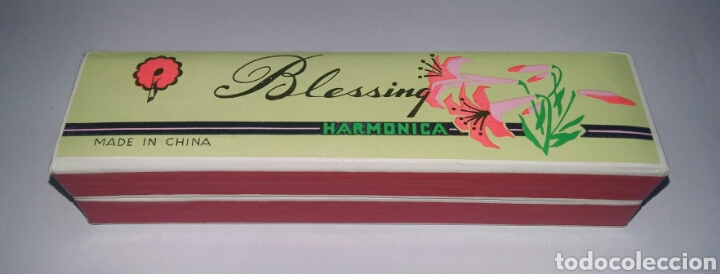Instrumentos musicales: HARMÓNICA BLESSING. NUEVA EN CAJA. SIN ESTRENAR. AÑOS 80. - Foto 3 - 116568910