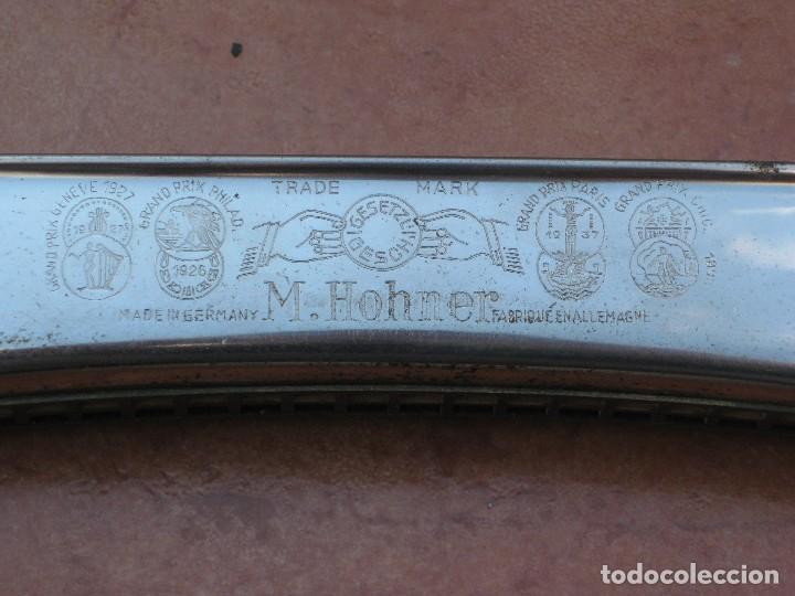 Instrumentos musicales: Harmonica M.Hohner. 18cm por 3cm. - Foto 3 - 116703395