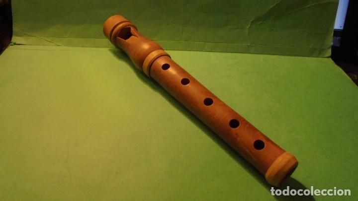 ANTIGUA FLAUTA POPULAR CATALANA , MADERA DE BOJ - 21 CM. (Música - Instrumentos Musicales - Viento Madera)
