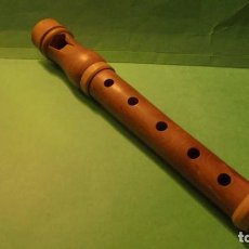 Instrumentos musicales: ANTIGUA FLAUTA POPULAR CATALANA , MADERA DE BOJ - 21 CM. . Lote 117748155