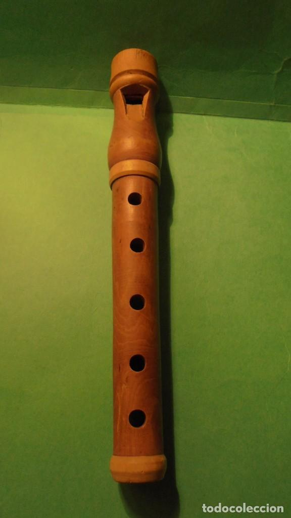 Instrumentos musicales: ANTIGUA FLAUTA POPULAR CATALANA , MADERA DE BOJ - 21 CM. - Foto 2 - 117748155