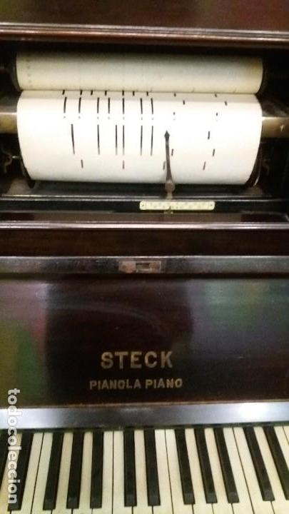 Instrumentos musicales: Preciosa pianola Steck - Foto 5 - 117914487