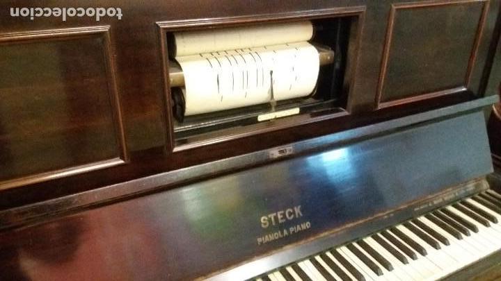 PRECIOSA PIANOLA STECK (Música - Instrumentos Musicales - Pianos Antiguos)