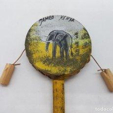 Instrumentos musicales: ANTIGUO INSTRUMENTO MUSICAL DE PERCUSIÓN HECHO Y PINTADO A MANO CON PIEL EN KENIA.. Lote 119455219