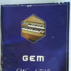 Instruments Musicaux: CATALOGO MANUAL PIANO GEM WIZARD 325. Lote 119555314