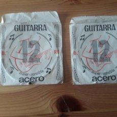 Instrumentos musicales: 2 CUERDAS ACERO GUITARRA 8A RE SUPER SENSIBLE. Lote 120225699