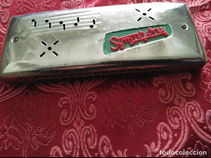 Instrumentos musicales: antiguaarmonica symphony madera y metal made in polonia - Foto 2 - 120805019