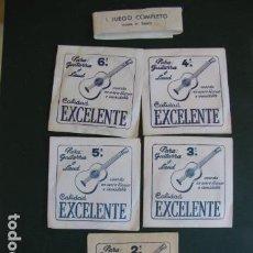 Instrumentos musicales: JUEGO CUERDAS GUITARRA. EXCELENTE. Lote 121984895