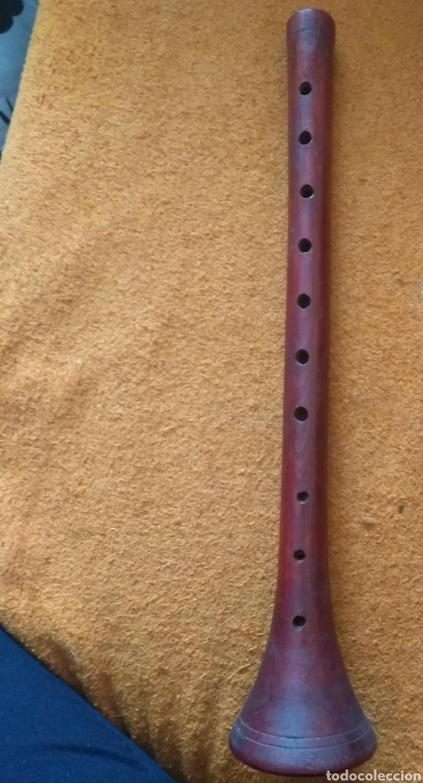 Instrumentos musicales: Dulzaina / flauta artesanal antigua - Foto 3 - 122138511