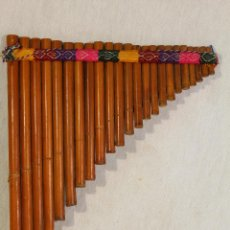 Instrumentos musicales: FLAUTA DE PAN - AEROFONO SUDAMERICANO - ZAMPOÑA. Lote 122838759