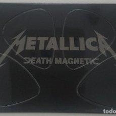 Instrumentos musicales: CONJUNTO 4 PUAS METALLICA DEATH MAGNETIC. Lote 123024331