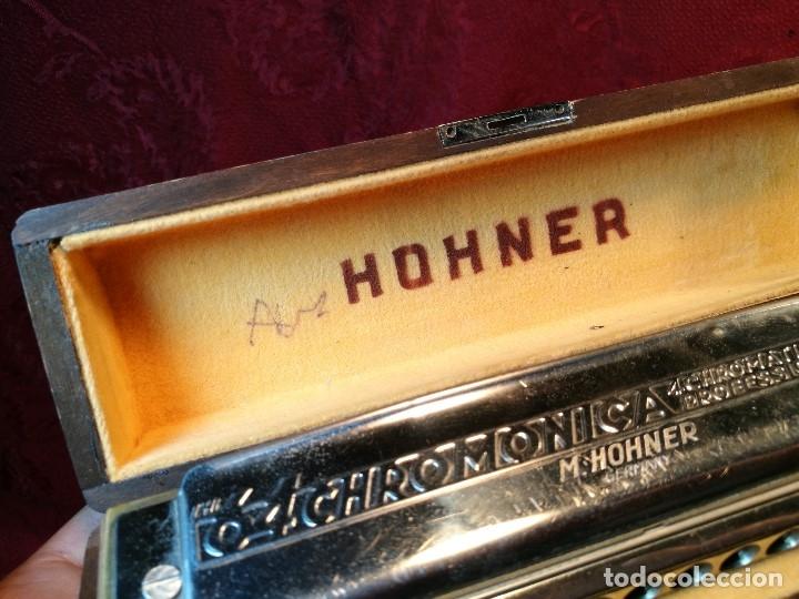 Instrumentos musicales: Armónica para coleccionistas, De M. Hohner, Germany, The 64 Chromonica, AÑOS 50 - Foto 7 - 123387067