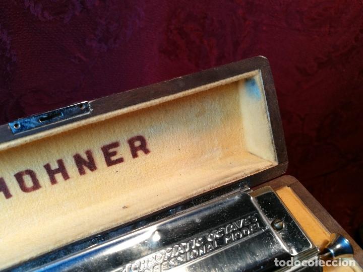 Instrumentos musicales: Armónica para coleccionistas, De M. Hohner, Germany, The 64 Chromonica, AÑOS 50 - Foto 8 - 123387067