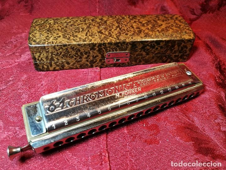 Instrumentos musicales: Armónica para coleccionistas, De M. Hohner, Germany, The 64 Chromonica, AÑOS 50 - Foto 2 - 123387067
